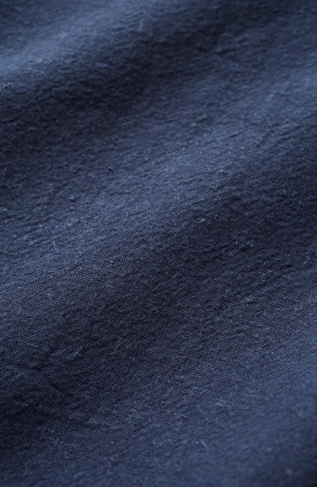 haco! PBP オーガニックコットン 母モコトのどんなときでも役に立つ ゆるシルエットの綿麻シャツワンピース <ネイビー>の商品写真2