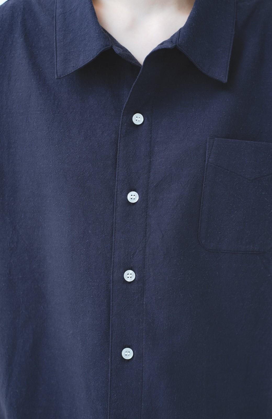 haco! PBP オーガニックコットン 母モコトの上下別々で普段も着られる 綿麻パジャマ <ネイビー>の商品写真4