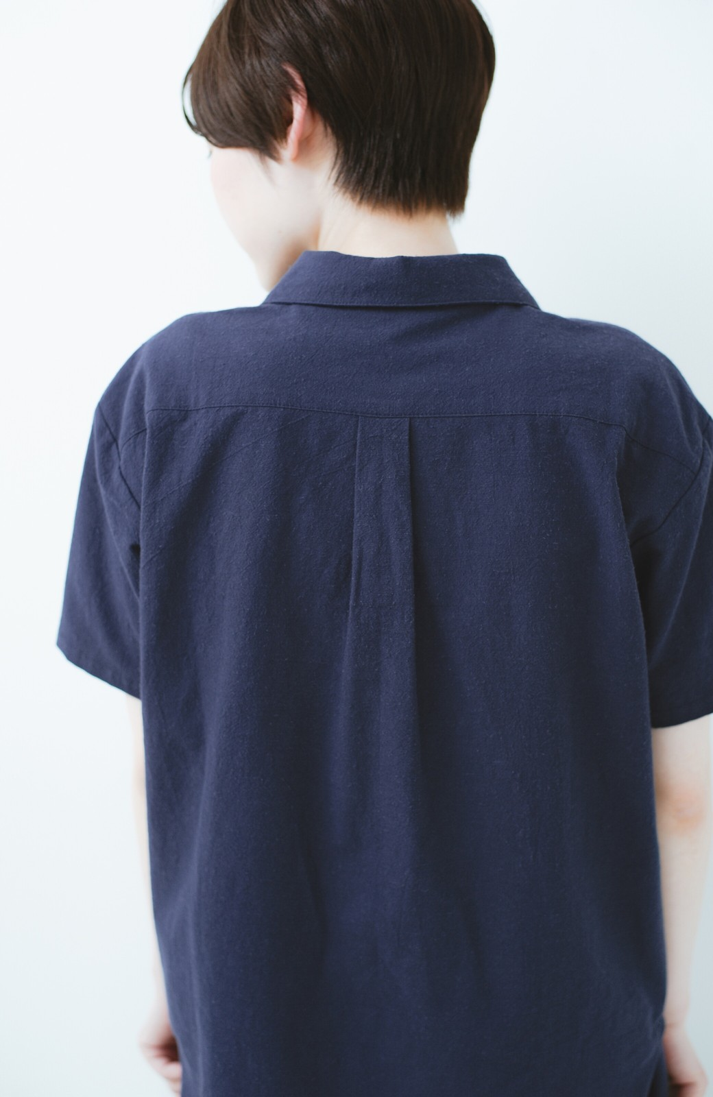 haco! PBP オーガニックコットン 母モコトの上下別々で普段も着られる 綿麻パジャマ <ネイビー>の商品写真5