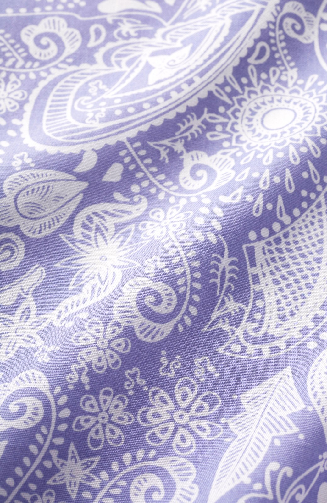 haco! PBP オーガニックコットン インドのお守り フリルがかわいいメヘンディ柄のブラウス <パープル系その他>の商品写真3