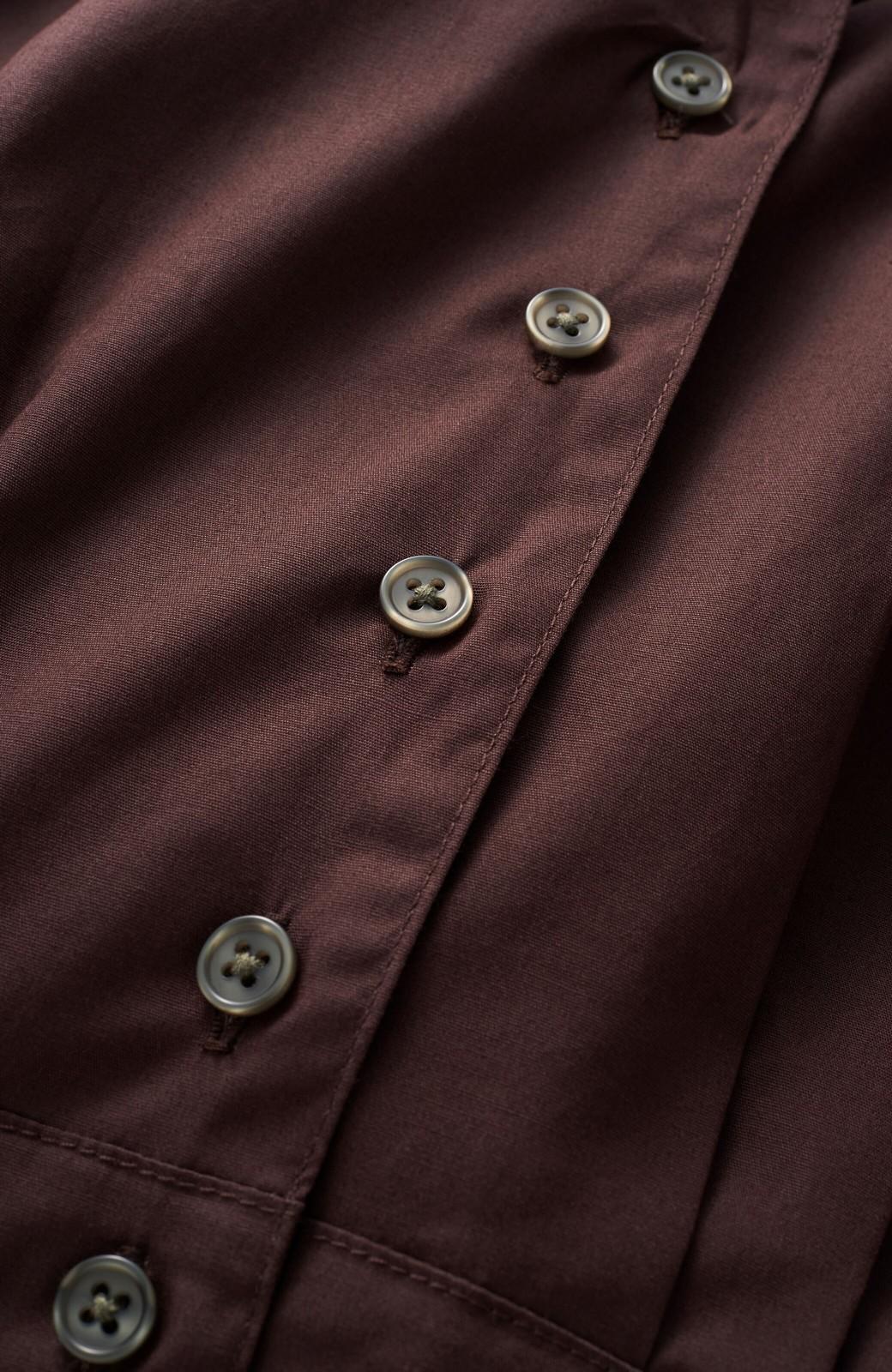 haco! PBP 高橋愛さんコラボ 大人っぽく着られるコットンシャツオールインワン <バーガンディー>の商品写真3