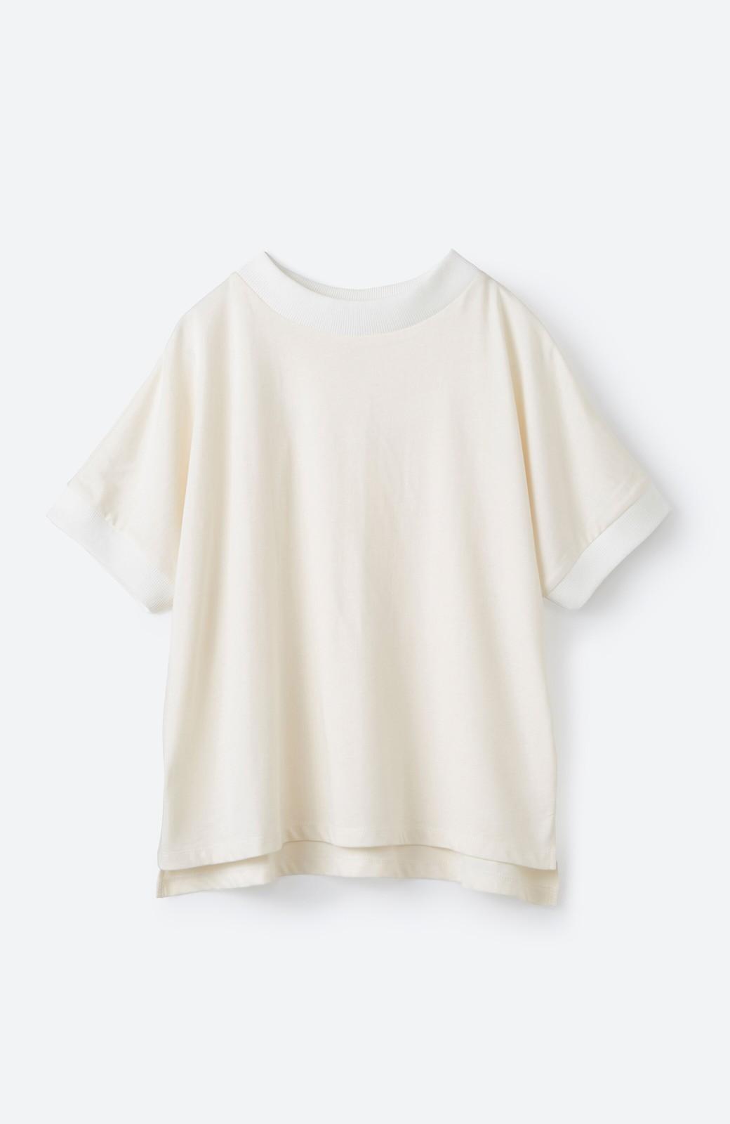 haco! PBP 高橋愛さんコラボ 手描きハート刺しゅうがかわいいコットンリンガーTシャツ <アイボリー>の商品写真2