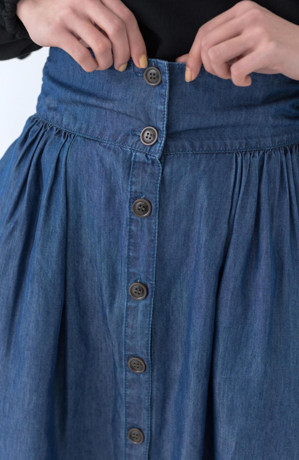 haco! WHEART テンセル混デニムフレアスカート <ブルー>の商品写真13