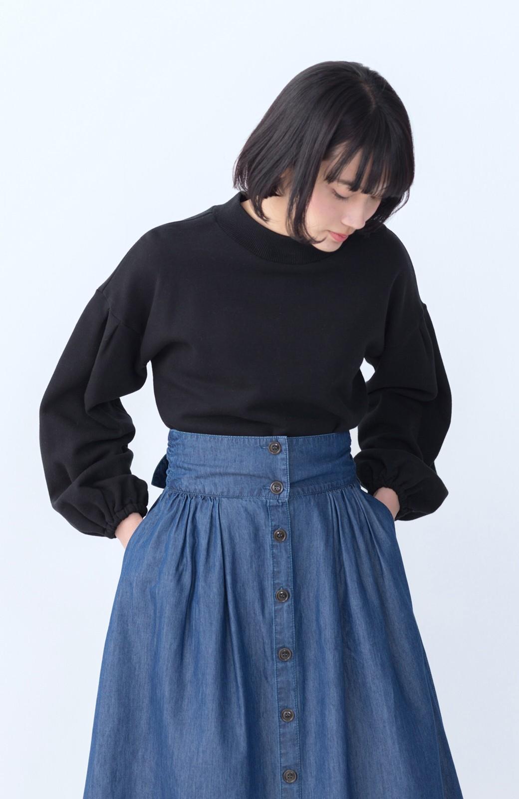 haco! WHEART テンセル混デニムフレアスカート <ブルー>の商品写真12