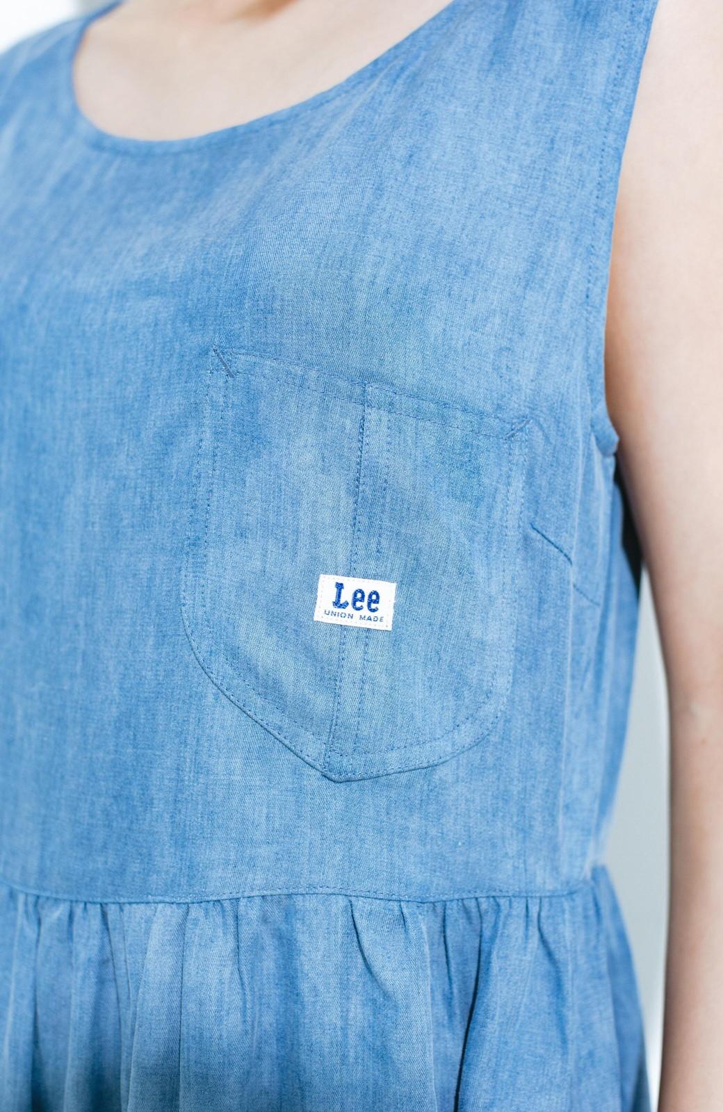 haco! Lady Lee ノースリーブロングドレス <ブルー>の商品写真2