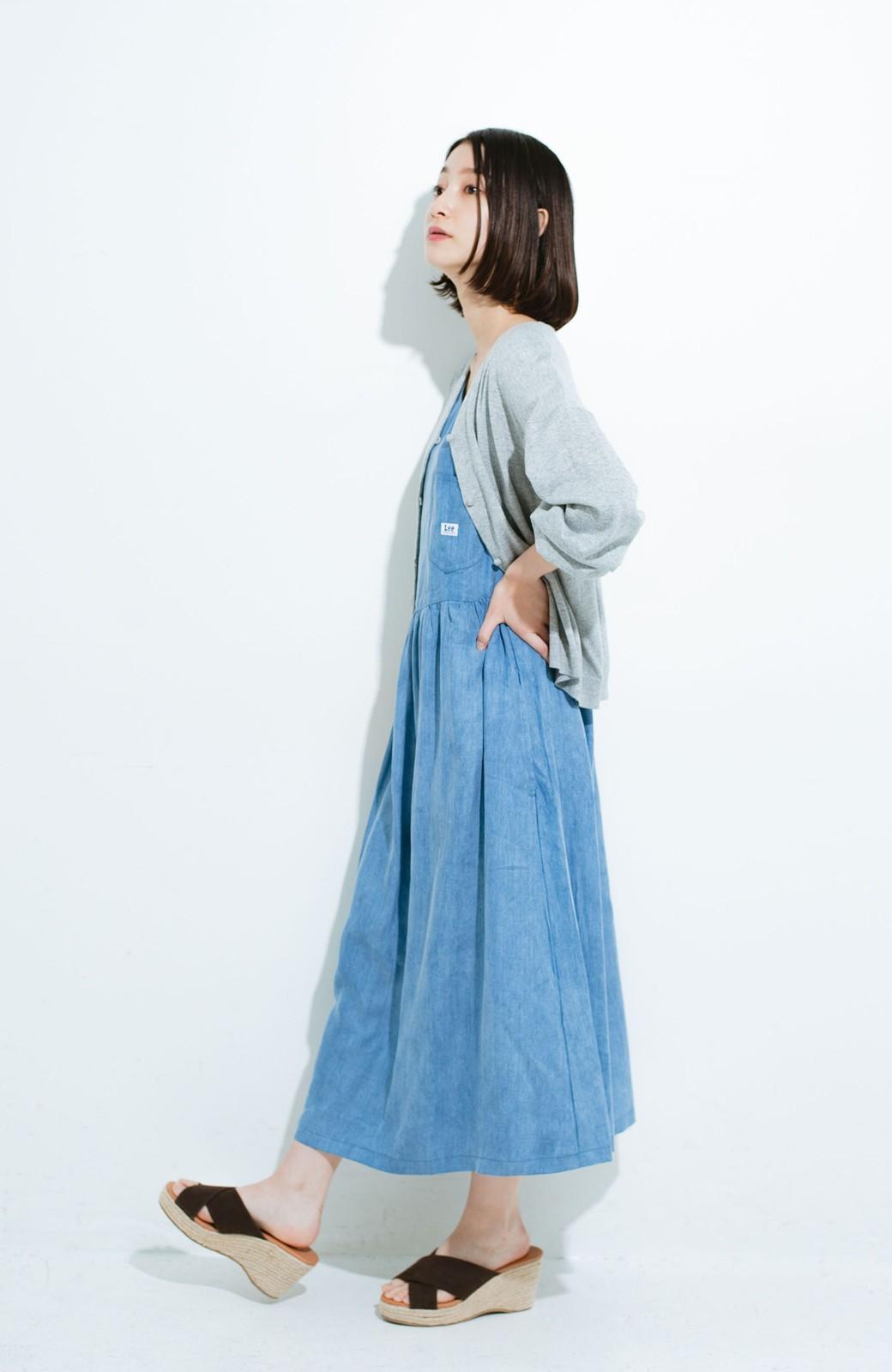 haco! Lady Lee ノースリーブロングドレス <ブルー>の商品写真8