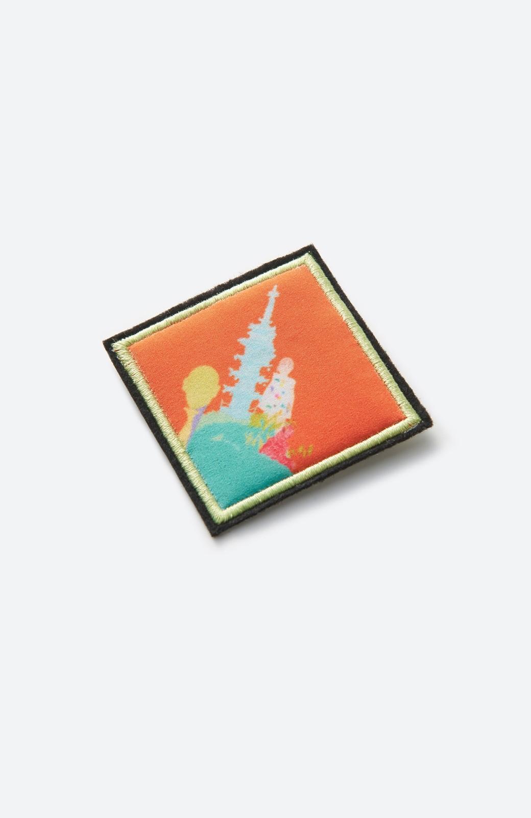 haco! 画家 入谷葉子さんと作った おすましワンピースとブローチのセット <ブルー系その他>の商品写真3