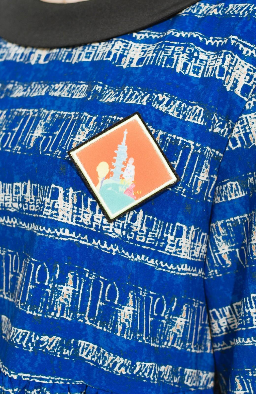 haco! 画家 入谷葉子さんと作った おすましワンピースとブローチのセット <ブルー系その他>の商品写真5