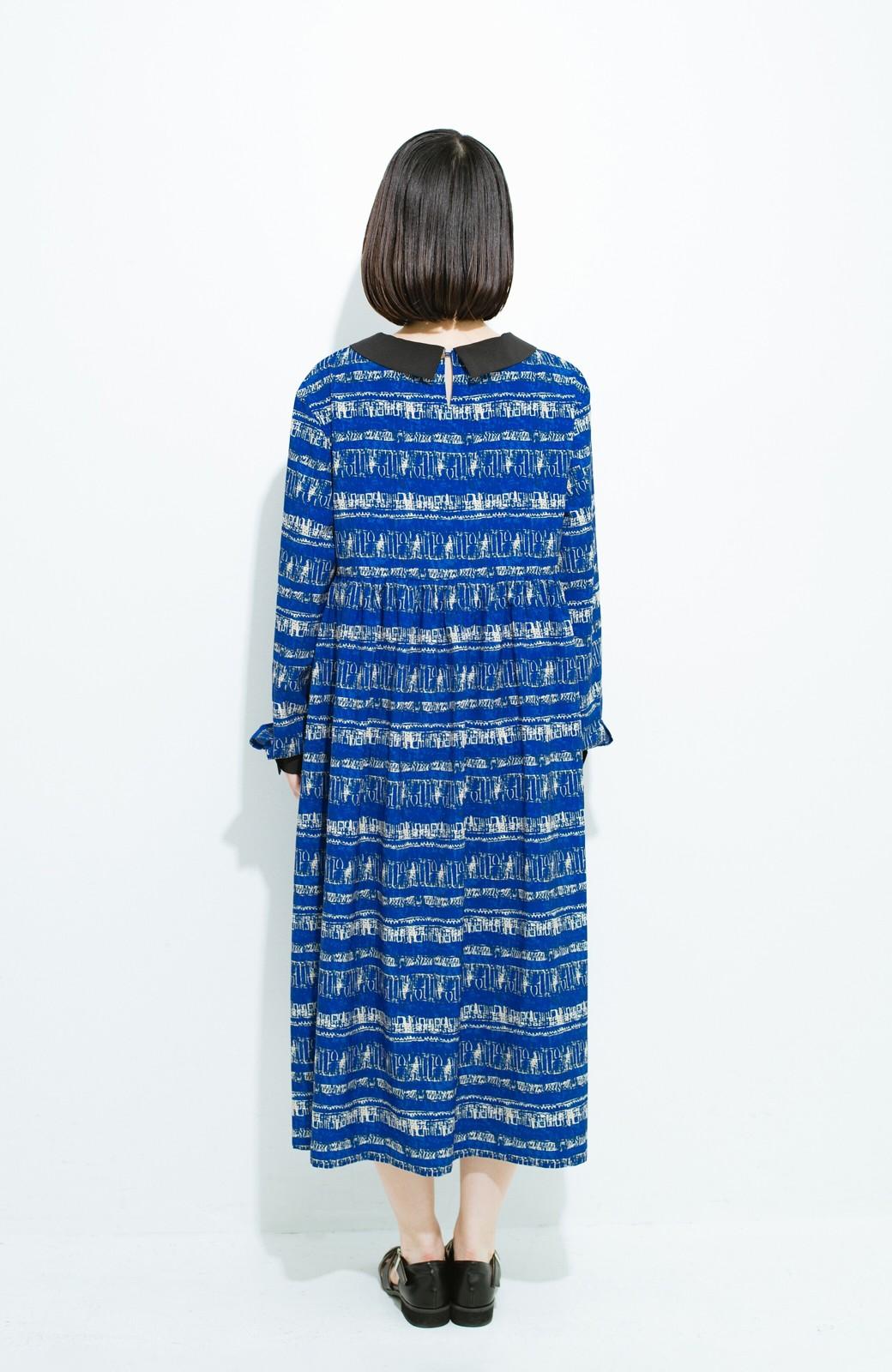 haco! 画家 入谷葉子さんと作った おすましワンピースとブローチのセット <ブルー系その他>の商品写真11