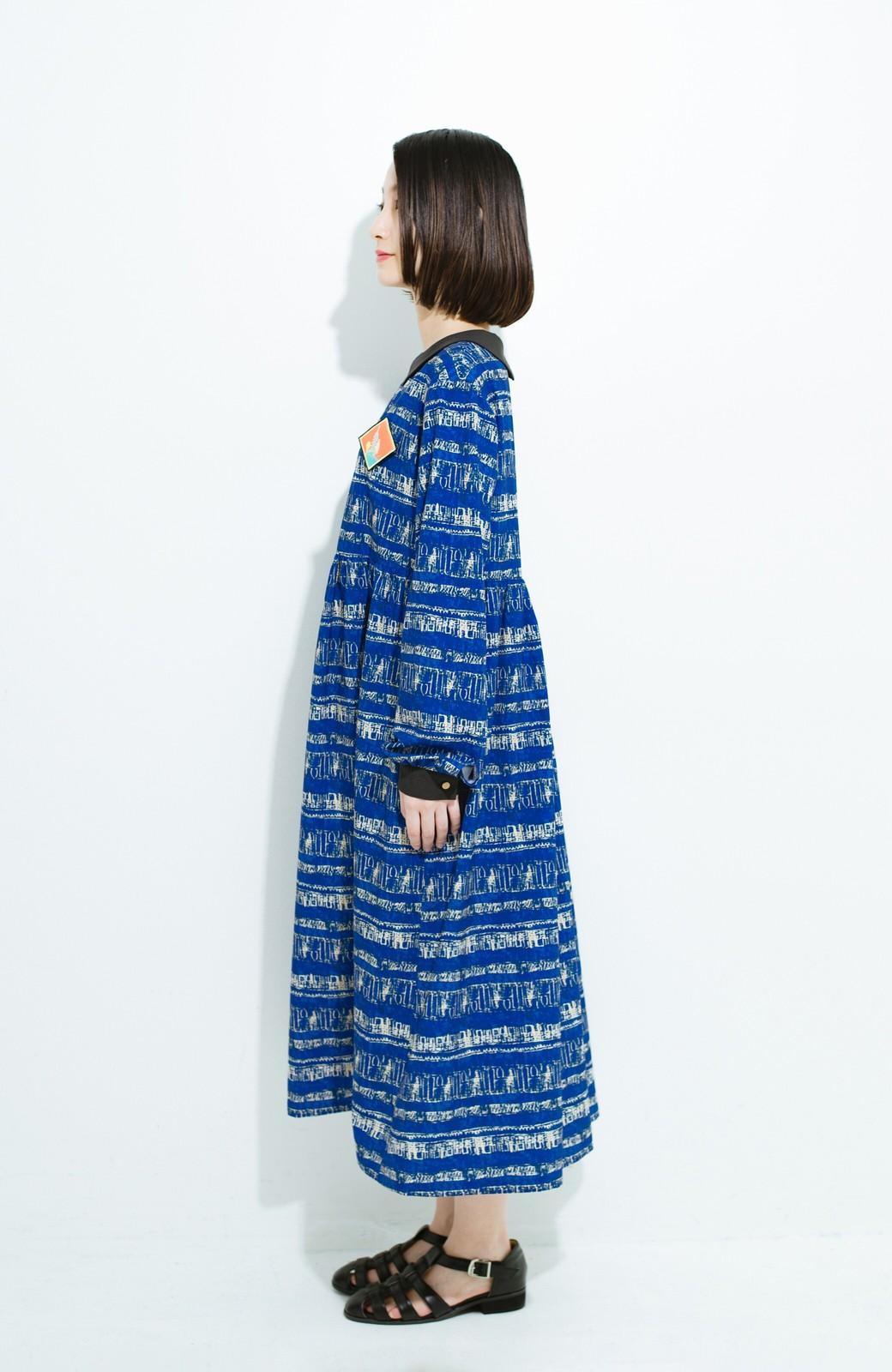 haco! 画家 入谷葉子さんと作った おすましワンピースとブローチのセット <ブルー系その他>の商品写真10