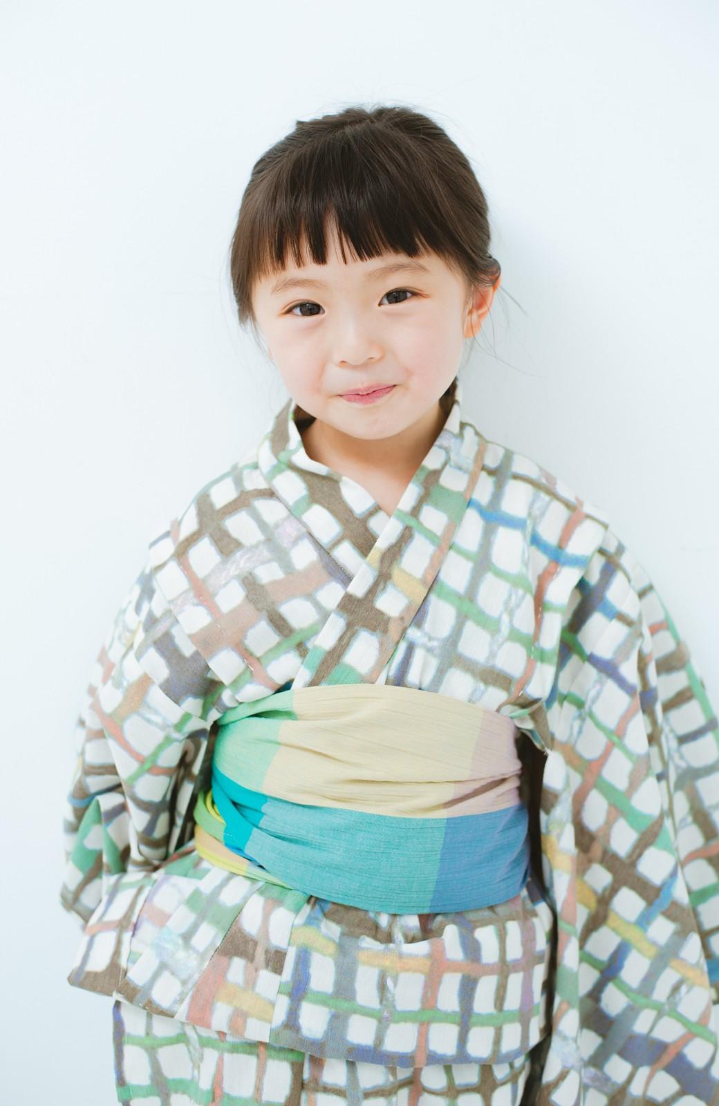 haco! ひでや工房 京都の綿ちりめん子ども浴衣 <ベージュ系その他>の商品写真2