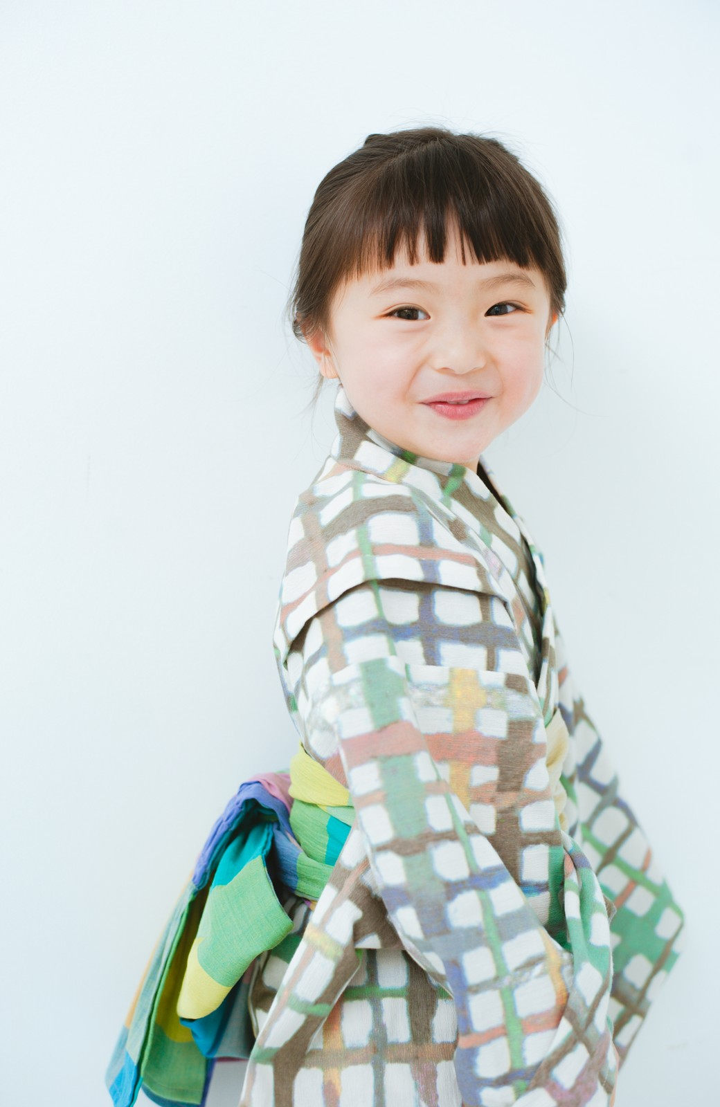 haco! ひでや工房 京都の綿ちりめん子ども浴衣 <ベージュ系その他>の商品写真3