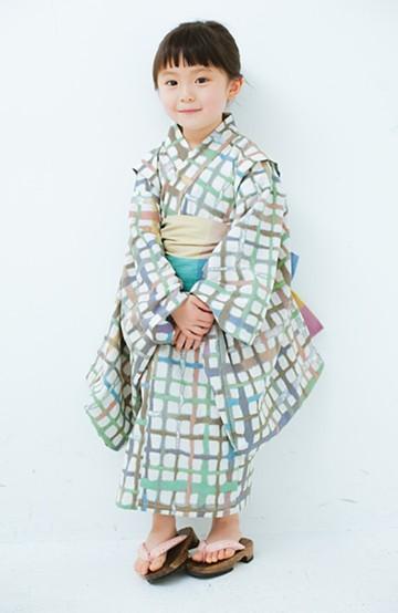 haco! ひでや工房 京都の綿ちりめん子ども浴衣 <ベージュ系その他>の商品写真