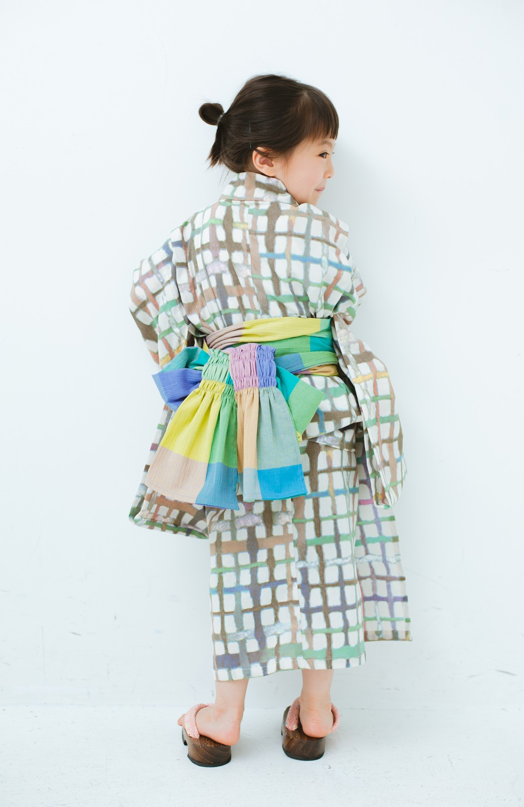 haco! ひでや工房 京都の綿ちりめん子ども浴衣 <ベージュ系その他>の商品写真7