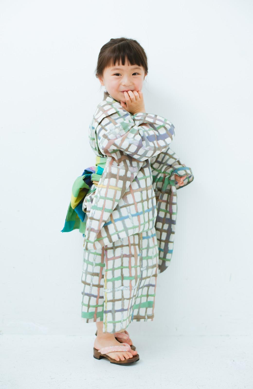 haco! ひでや工房 京都の綿ちりめん子ども浴衣 <ベージュ系その他>の商品写真8