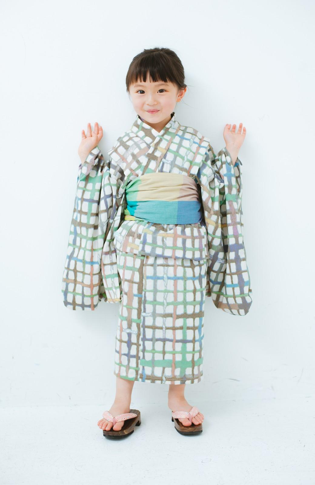 haco! ひでや工房 京都の綿ちりめん子ども浴衣 <ベージュ系その他>の商品写真4