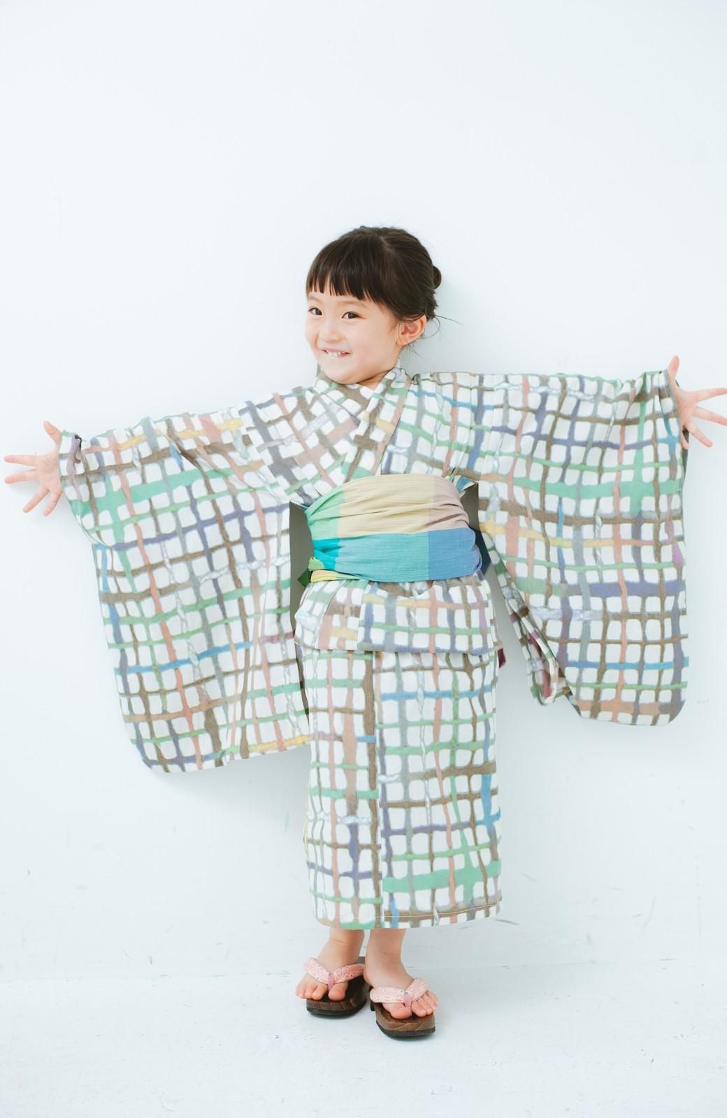 haco! ひでや工房 京都の綿ちりめん子ども浴衣 <ベージュ系その他>の商品写真6