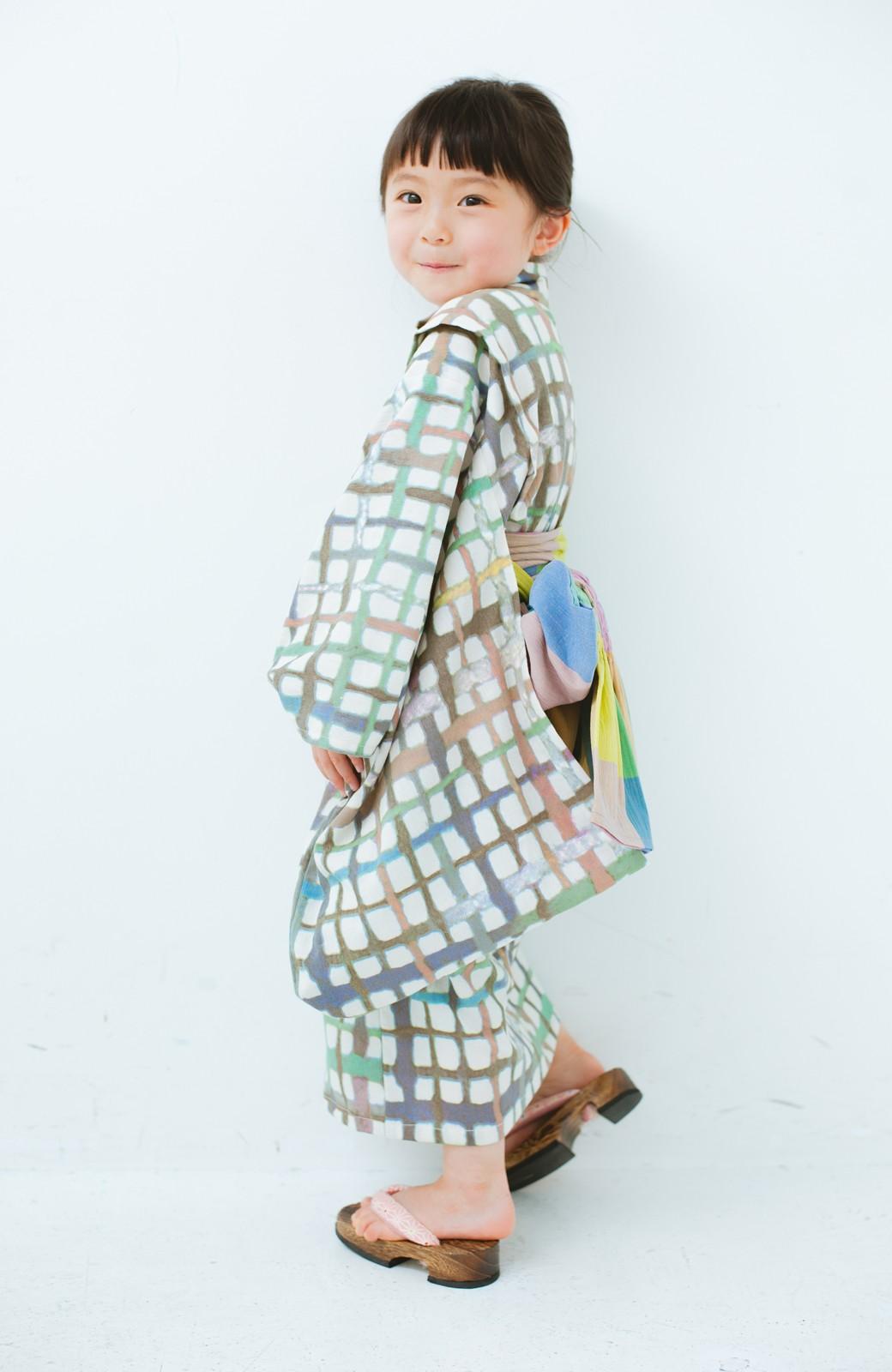 haco! ひでや工房 京都の綿ちりめん子ども浴衣 <ベージュ系その他>の商品写真5