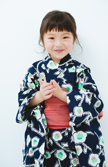 haco! ひでや工房 京都の綿ちりめん子ども浴衣 <ブルー系その他>の商品写真