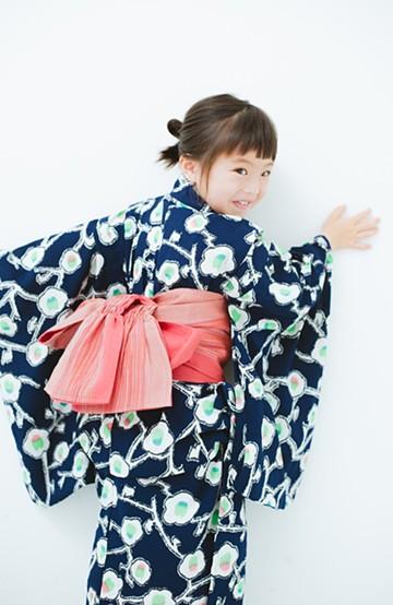 haco! ひでや工房 京都の綿麻子どもへこ帯 <レッド>の商品写真