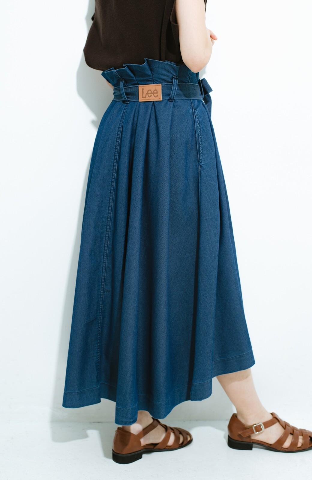 haco! Lady Lee ウエストリボンのペーパーバッグスカート <ブルー>の商品写真4