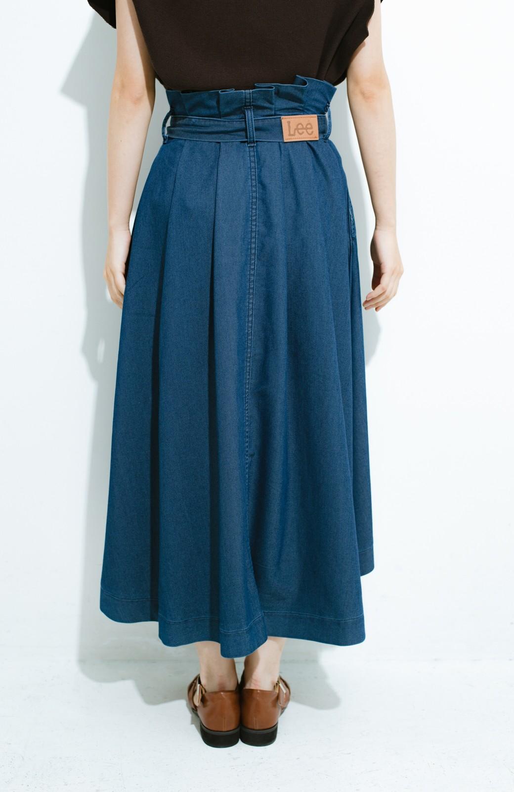 haco! Lady Lee ウエストリボンのペーパーバッグスカート <ブルー>の商品写真6