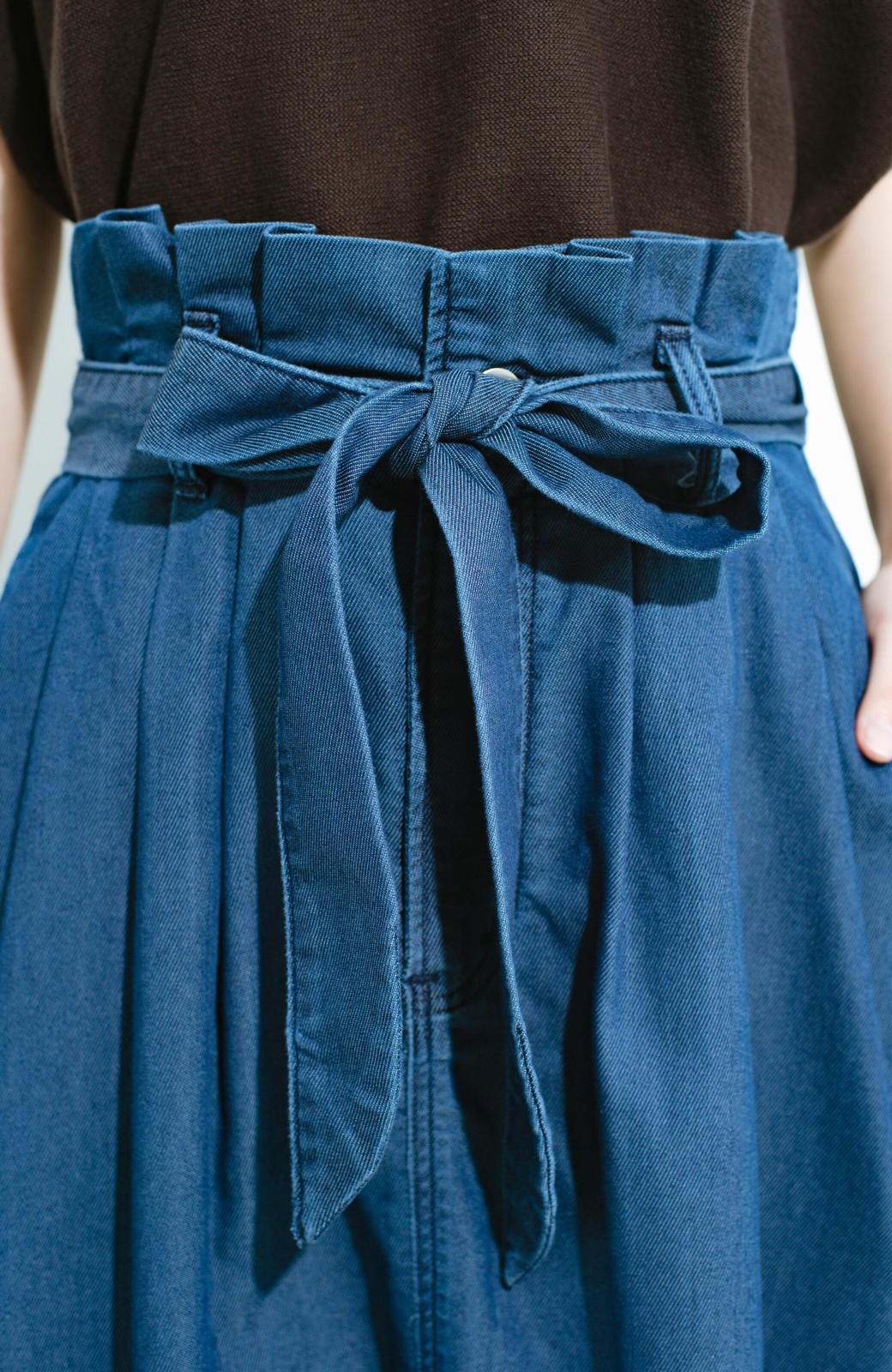haco! Lady Lee ウエストリボンのペーパーバッグスカート <ブルー>の商品写真7