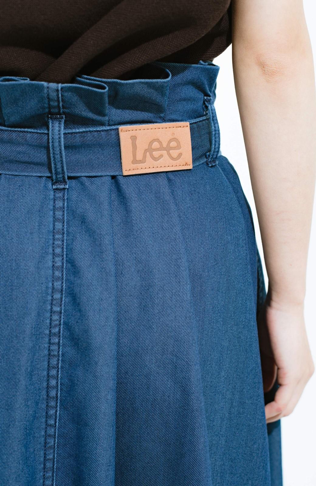 haco! Lady Lee ウエストリボンのペーパーバッグスカート <ブルー>の商品写真8