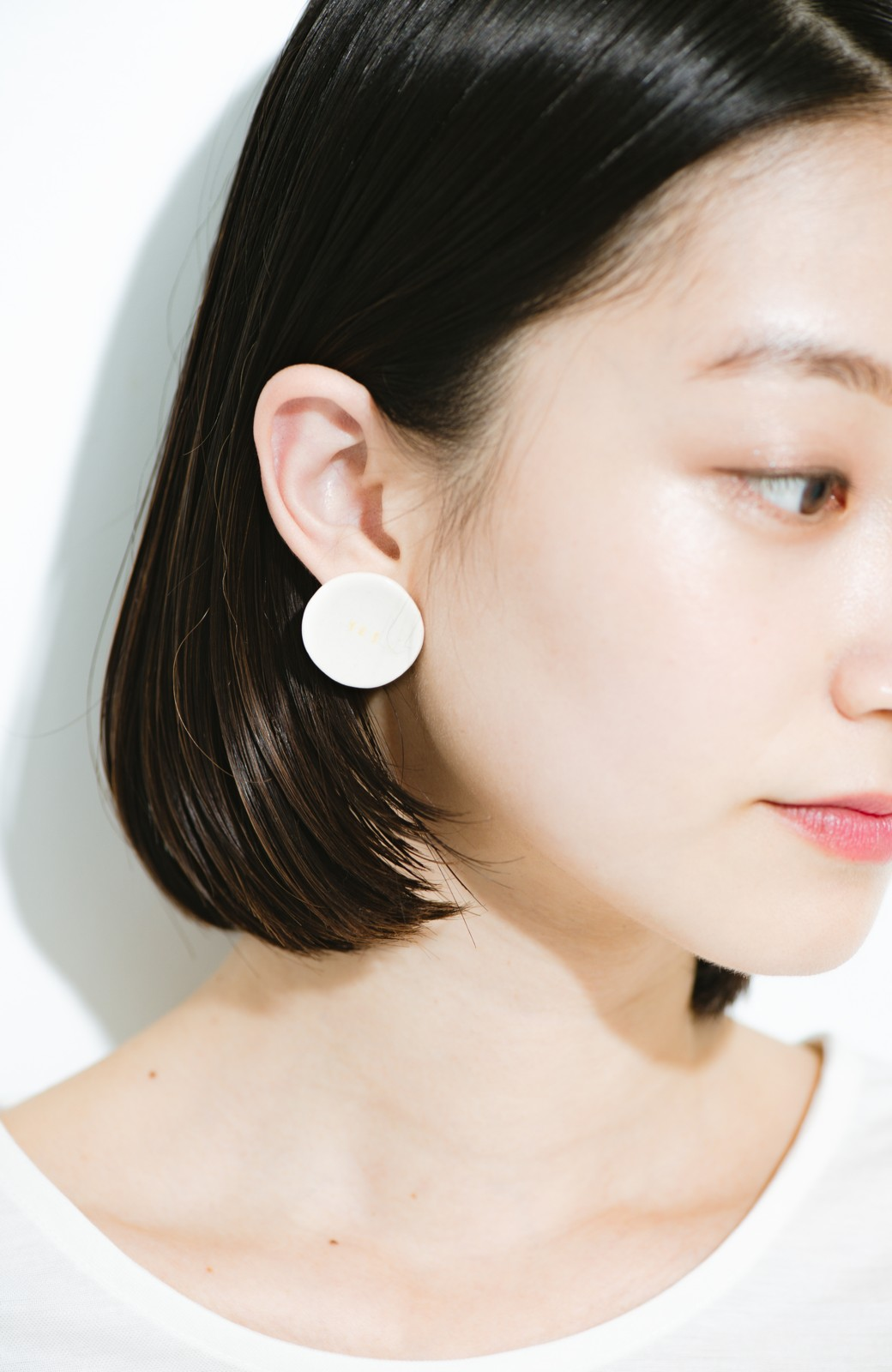 "haco! Djurgarden PIERCE_018&EARRING_003""YES"" <ホワイト>の商品写真4"