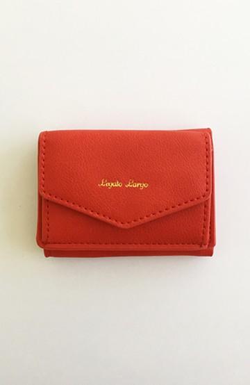 haco! Legato Largo シュリンクフェイクレザー三つ折りミニ財布 <レッド>の商品写真