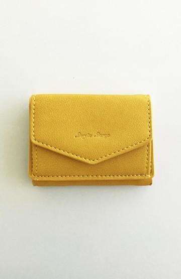 haco! Legato Largo シュリンクフェイクレザー三つ折りミニ財布 <イエロー>の商品写真