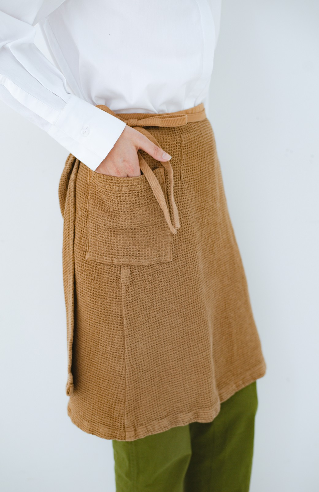 haco! コルトレイクリネン ラップスカートエプロン <ブラウン>の商品写真1
