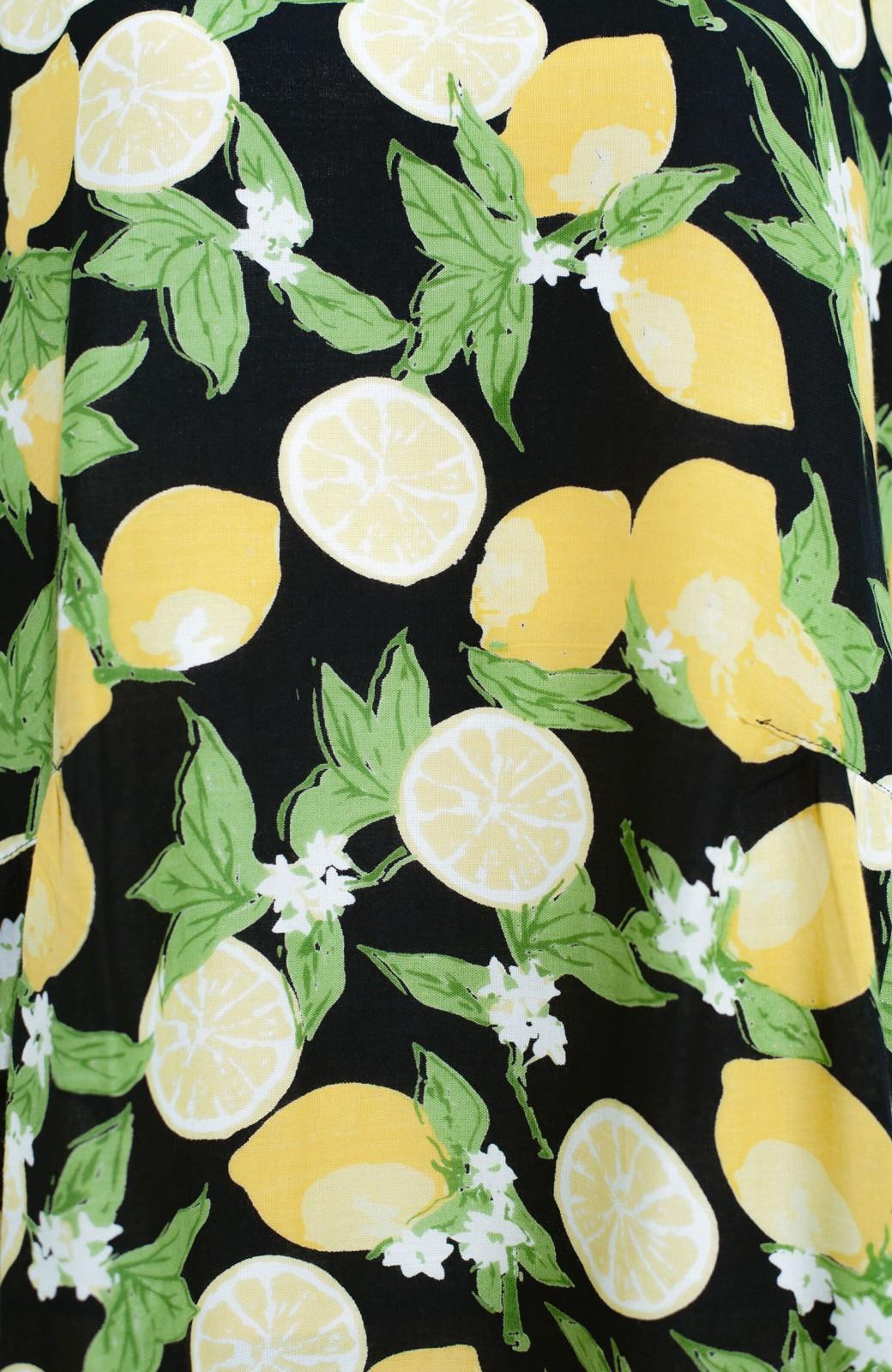 haco! LITTLE MARKET レモン柄 2WAYワンピース <ネイビー>の商品写真6