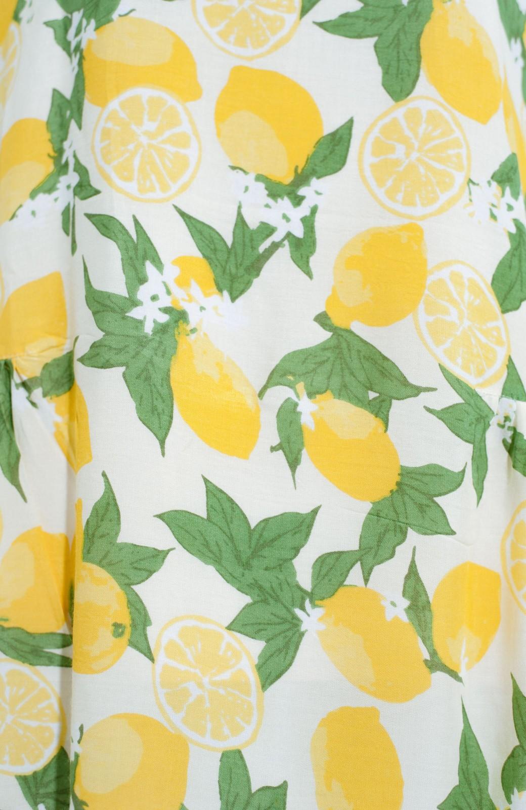 haco! LITTLE MARKET レモン柄 2WAYワンピース <アイボリー>の商品写真5
