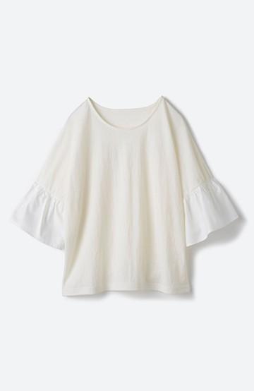 haco! パッと着て華のある フレアースリーブカットソートップス <オフホワイト>の商品写真