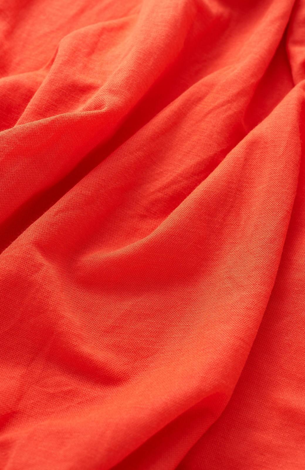 haco! 楽ちん便利な きれいめカットソーマキシスカート <オレンジ>の商品写真3