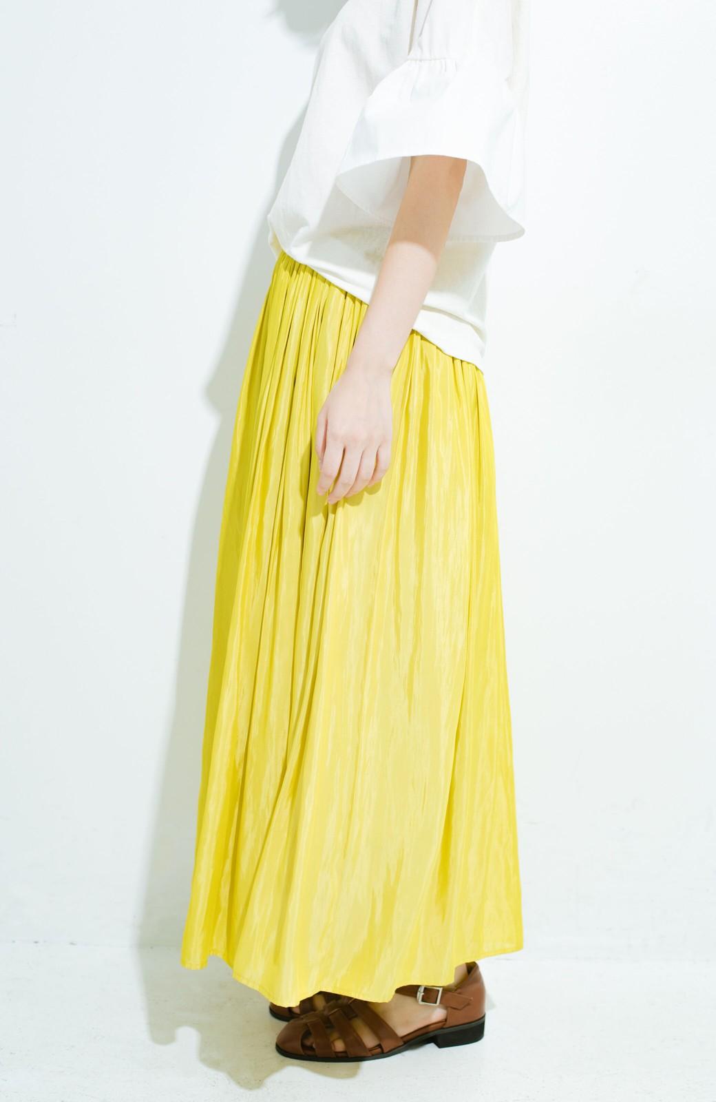 haco! このスカートさえはけば 女っぽくいられるたっぷりギャザースカート by que made me <イエロー>の商品写真4