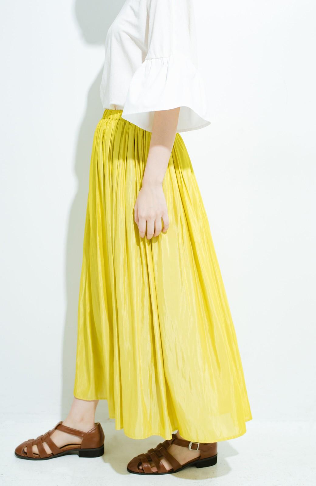 haco! このスカートさえはけば 女っぽくいられるたっぷりギャザースカート by que made me <イエロー>の商品写真6