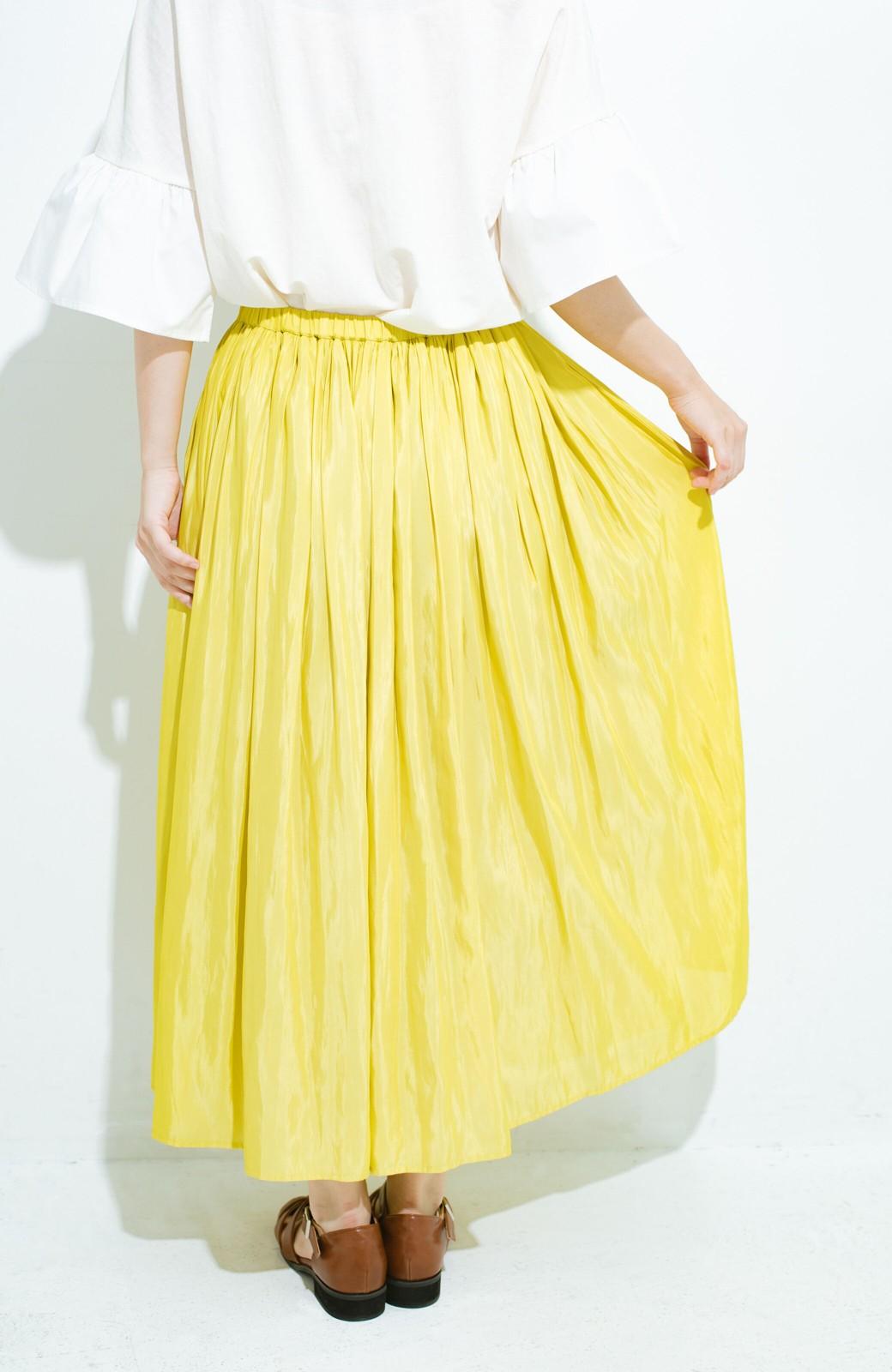 haco! このスカートさえはけば 女っぽくいられるたっぷりギャザースカート by que made me <イエロー>の商品写真7