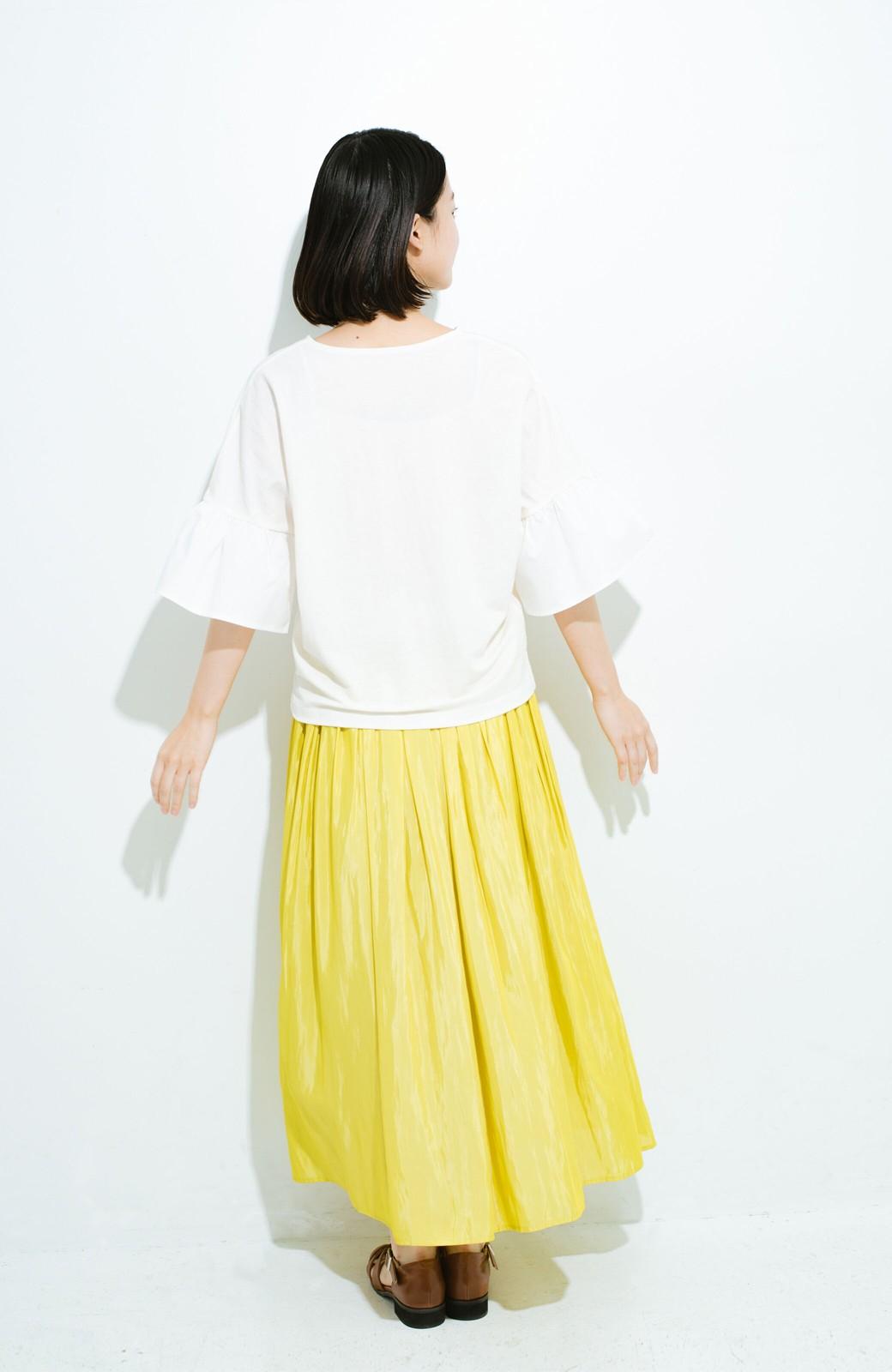 haco! このスカートさえはけば 女っぽくいられるたっぷりギャザースカート by que made me <イエロー>の商品写真12