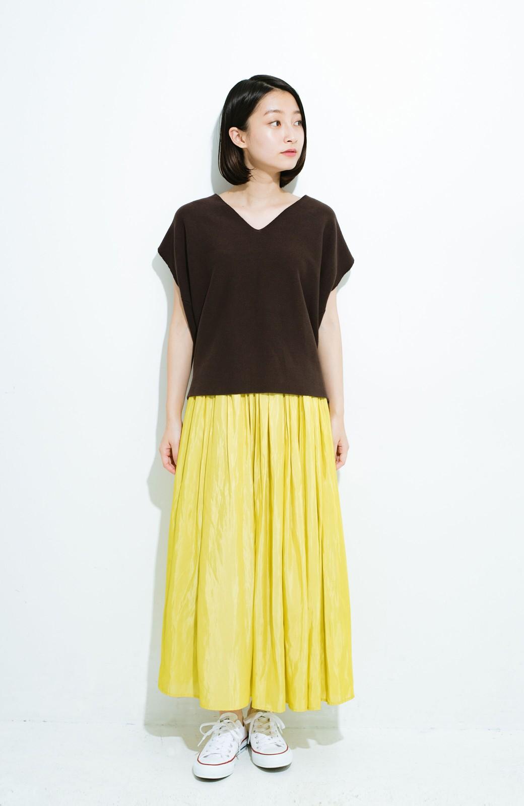 haco! このスカートさえはけば 女っぽくいられるたっぷりギャザースカート by que made me <イエロー>の商品写真10