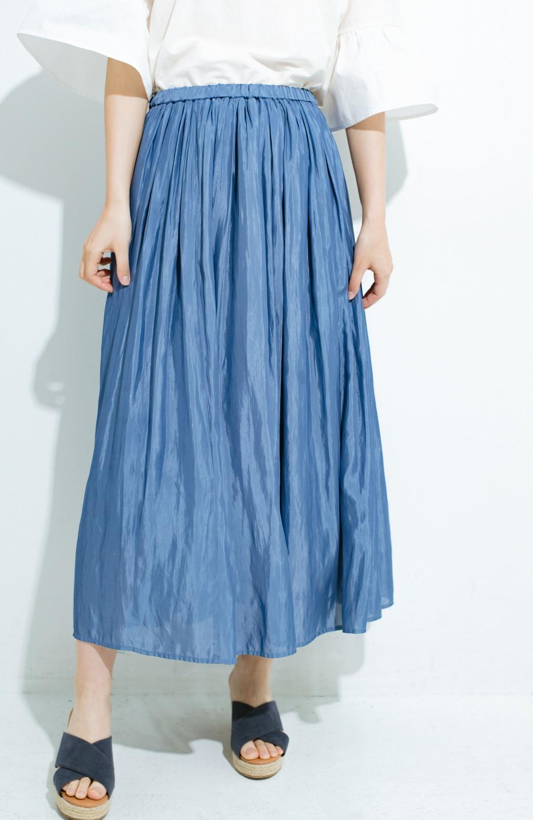 haco! このスカートさえはけば 女っぽくいられるたっぷりギャザースカート by que made me <ブルー>の商品写真4