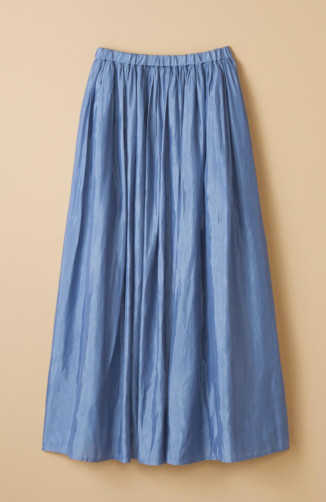 haco! このスカートさえはけば 女っぽくいられるたっぷりギャザースカート by que made me <ブルー>の商品写真2