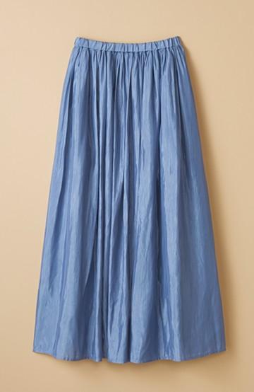 haco! このスカートさえはけば 女っぽくいられるたっぷりギャザースカート by que made me <ブルー>の商品写真