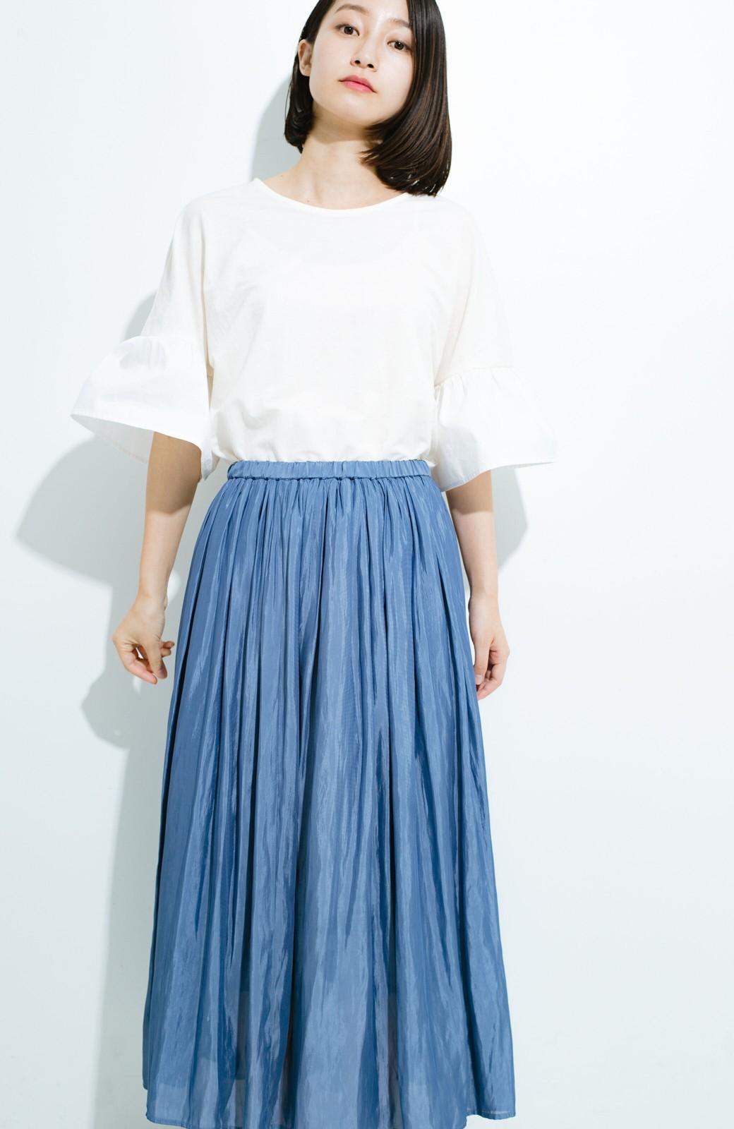 haco! このスカートさえはけば 女っぽくいられるたっぷりギャザースカート by que made me <ブルー>の商品写真13
