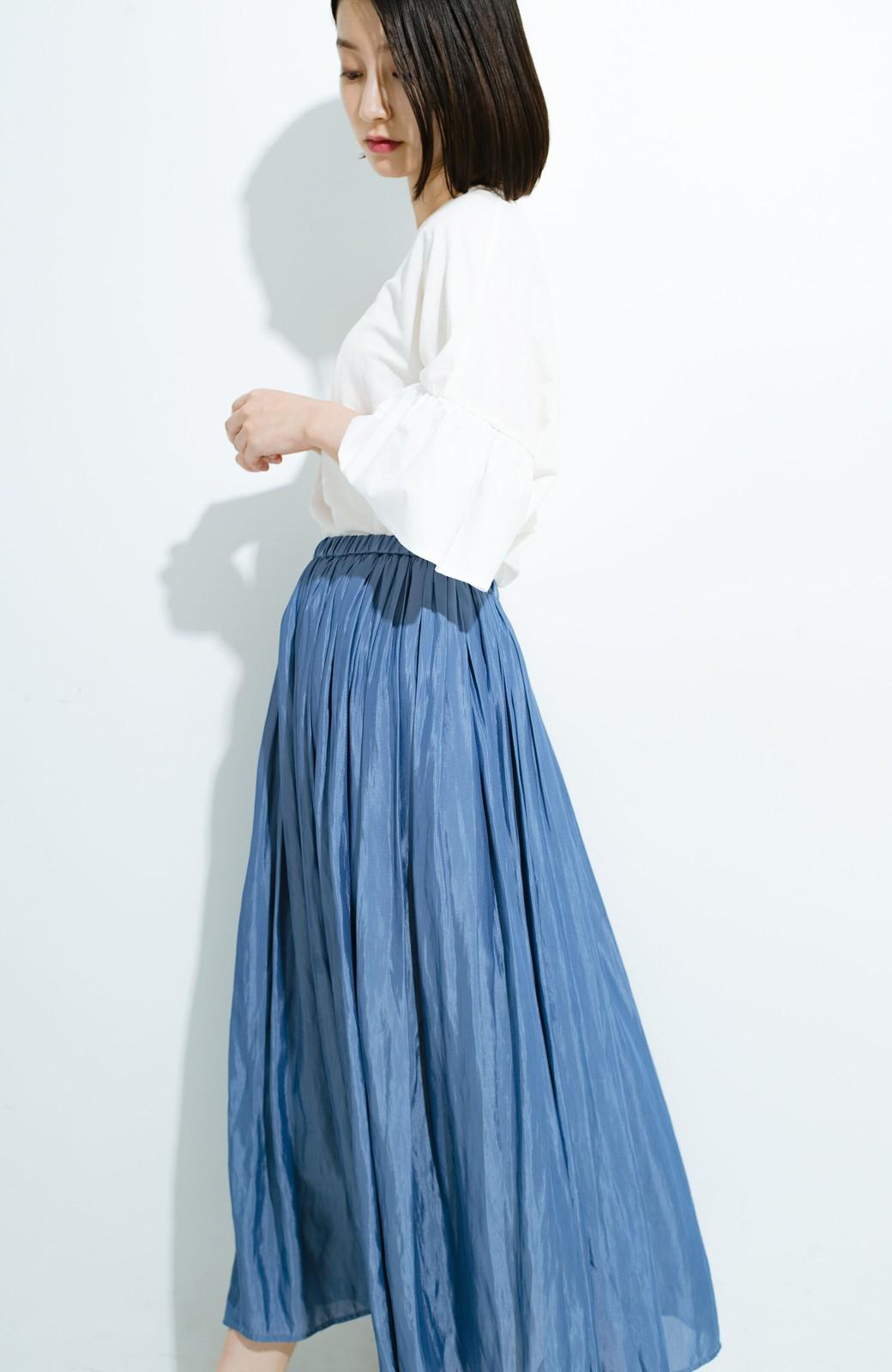 haco! このスカートさえはけば 女っぽくいられるたっぷりギャザースカート by que made me <ブルー>の商品写真14