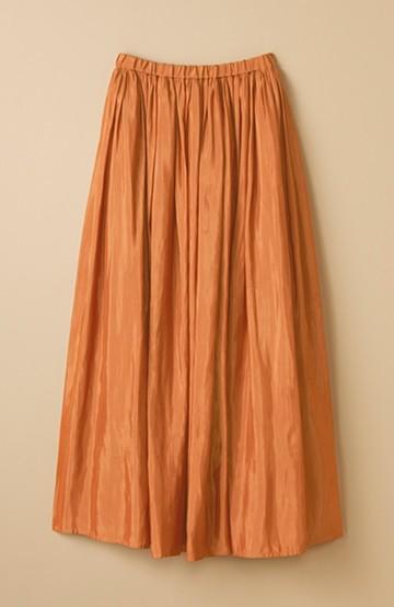 haco! このスカートさえはけば 女っぽくいられるたっぷりギャザースカート by que made me <ライトブラウン>の商品写真