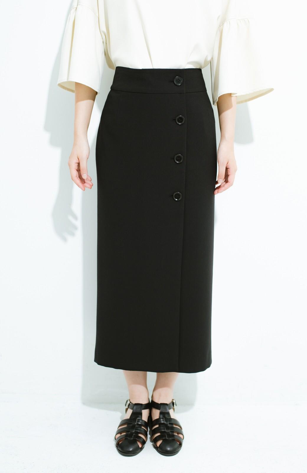 haco! はいてこそ見える実力、セミフォーマルにも使えるオトナのタイトスカート by MAKORI <ブラック>の商品写真3