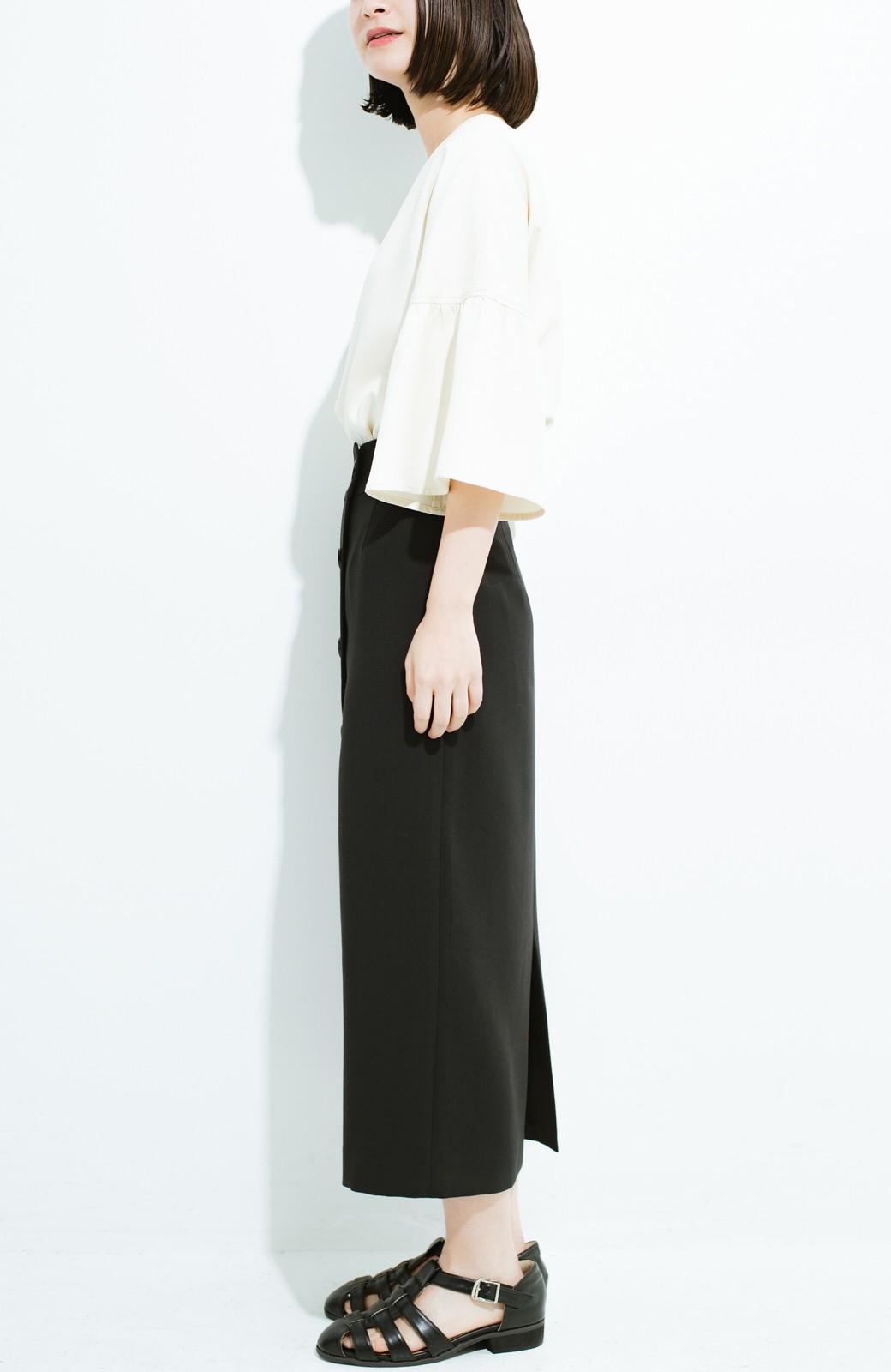 haco! はいてこそ見える実力、セミフォーマルにも使えるオトナのタイトスカート by MAKORI <ブラック>の商品写真4