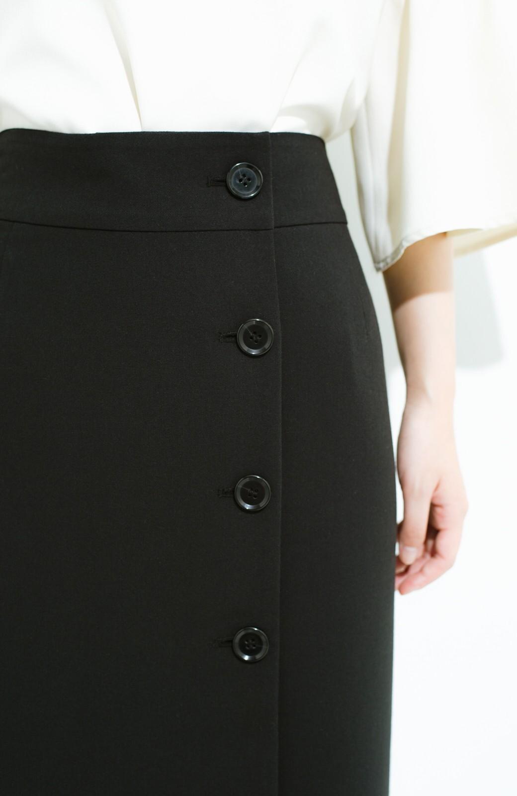 haco! はいてこそ見える実力、セミフォーマルにも使えるオトナのタイトスカート by MAKORI <ブラック>の商品写真7